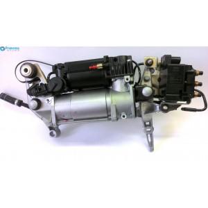 Компрессор пневматической подвески с блоком клапанов (оригинал) VW Touareg