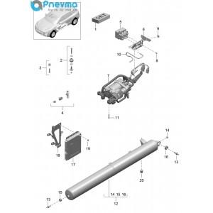 Компрессор пневматической подвески Macan (оригинал)