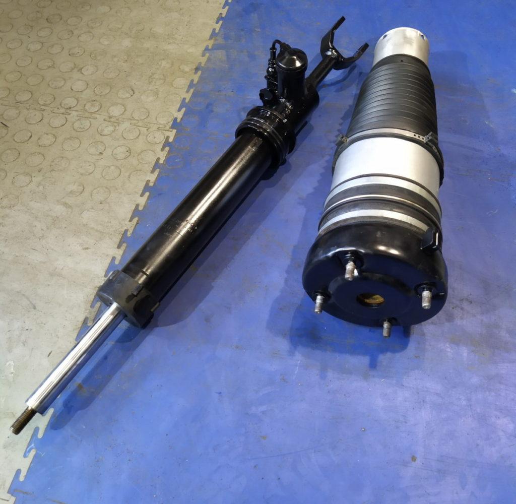 сборка амортизатора с пневмобаллоном Audi A6 C6